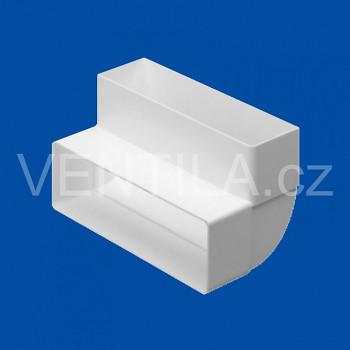 Koleno pro ploché potrubí VP 60x204-90 HO