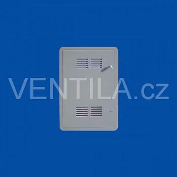 Plastová revizní dvířka First s mřížkou VP SIG 300 x 400 G šedá