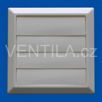 Větrací žaluzie bílá VP 125/200x200 HMZb