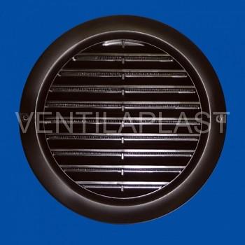 Kruhová odvětrávací mřížka VP MV 100 bVs hnědá (se síťkou)