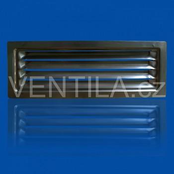 Nerezová větrací mřížka VP MVM 60x204 BR pro ploché potrubí