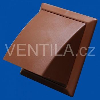 Větrací mřížka protidešťová hnědá VP 150/200x200 HPMh