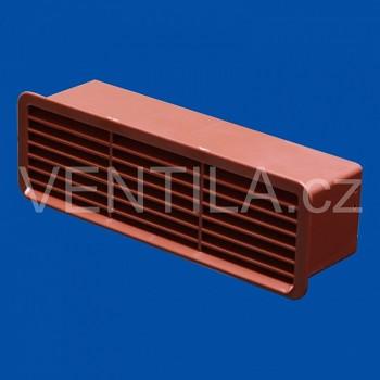 Větrací mřížka se zpětnou klapkou cihlová VP 60x204 MPKc