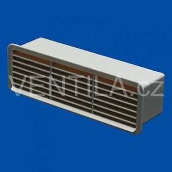 Větrací mřížka se zpětnou klapkou béžová VP 60x204 MPKbz