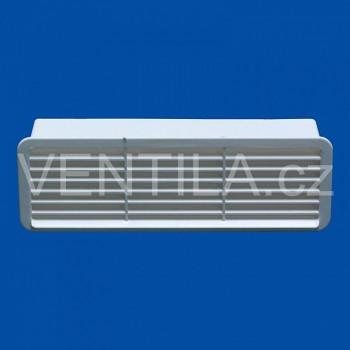 Větrací mřížka se zpětnou klapkou bílá VP 60x204 MPKb