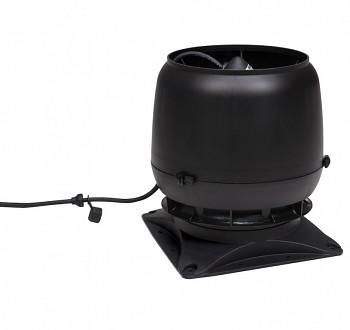 Vilpe E220S Ø160 + montážní deska 300x300, černá RAL 9005